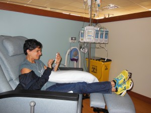 Picture of Ivonne Receiving Chemo.