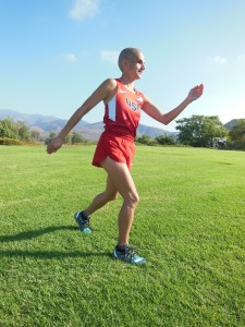 Picture Of Ivonne In A Running Pose