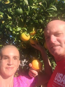 Ivonne and John At The Orange Trees At The Olympic Training Center
